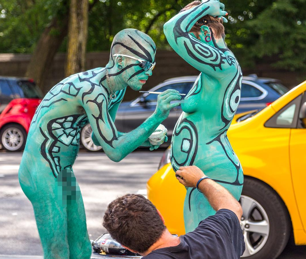A Live Nude Public Body Painting Event Is Coming to Bushwick